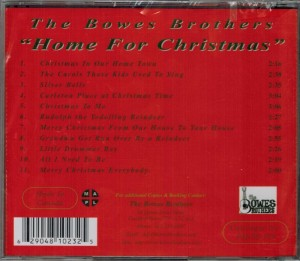 Bowes Brothers Home For Christmas Back