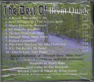 Brent Quade The Best of Back