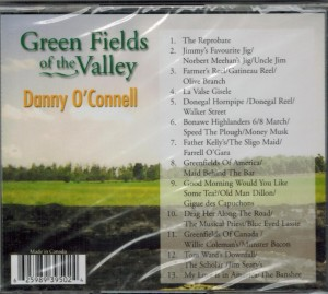 Danny O'Connell Green Fields of The Valley Back