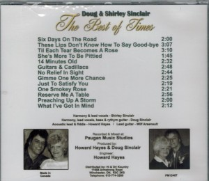 Doug & Shirley Sinclair The Best of Times Back