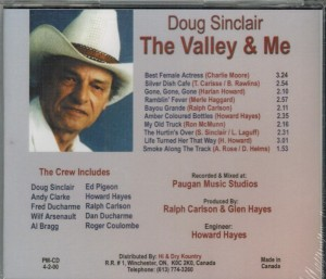 Doug Sinclair The Valley & Me Back