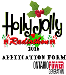 Holly Jolly Radiothon Application 2016