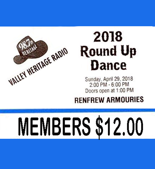 2018 ROUNDUP DANCE TICKET for MEMBERS