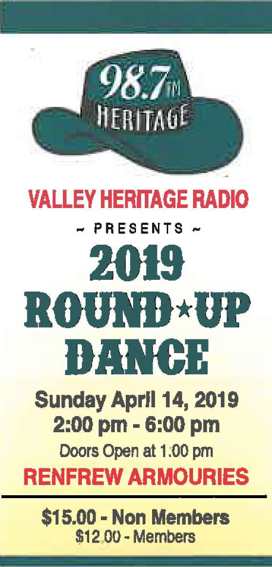 2019 ROUNDUP DANCE TICKET for MEMBERS